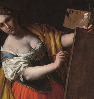 Artist At Work Painting - Deatil Of An Allegory Of Painting by Alessandro Turchi