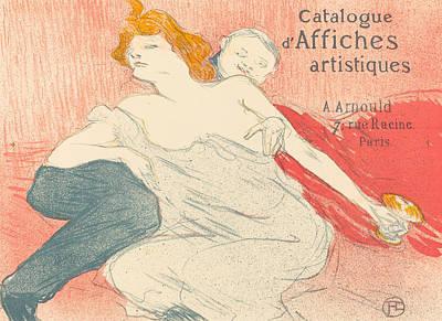 Bar Painting - Debauchery by Henri de Toulouse-Lautrec
