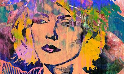 Lead Singer Mixed Media - Debbie Harry 4 by Otis Porritt