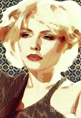 Music Digital Art - Debbie Harry, Blondie by Mary Bassett