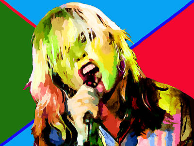 Drawing - Debbie Harry Collection - 1 by Sergey Lukashin