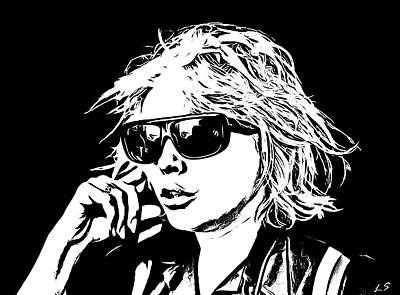 Drawing - Debbie Harry Collection - 2 by Sergey Lukashin