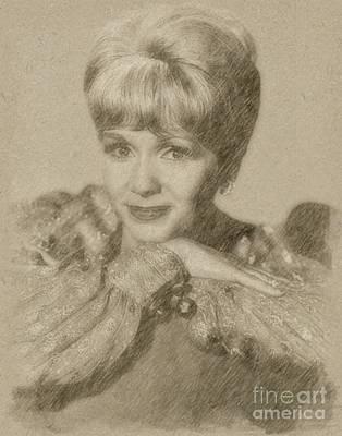Fantasy Drawings - Debbie Reynolds, Actress by Frank Falcon
