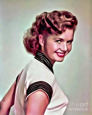 Debbie Reynolds, Hollywood Legend, Digital Art By Mary Bassett Art Print by Mary Bassett