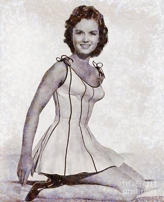 Debbie Reynolds, Vintage Actress By Sarah Kirk Art Print by Sarah Kirk