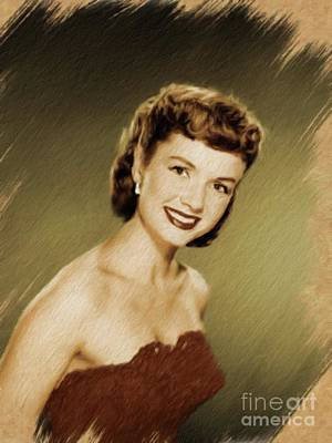 Painting - Debbie Reynolds, Vintage Actress by Mary Bassett