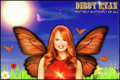 On Deck Digital Art - Debby Ryan - Butterflies by Robert Radmore