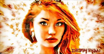 On Deck Digital Art - Debby Ryan - Princess by Robert Radmore