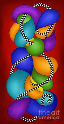 Polymer Digital Art - Debi's New Brain by Debi Payne