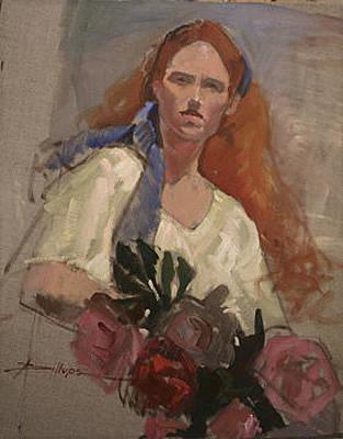 Betty Billups Wall Art - Painting - Debra by Betty Jean Billups