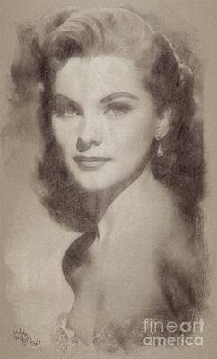Debra Paget, Vintage Hollywood Actress Art Print