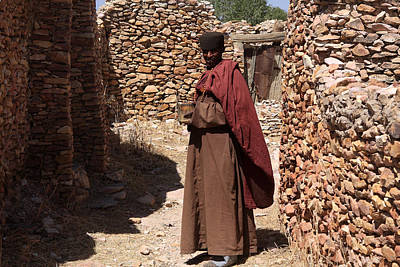 Photograph - Priest Of Debre Damo Monastery, Ethiopia by Aidan Moran