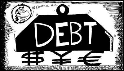 Thedailydose.com Drawing - Debt Weight by Yasha Harari