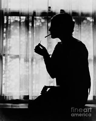 Photograph - Debutante Smoking 1920 by Padre Art