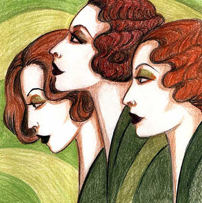 Drawing - Debutante Trio by Tara Hutton