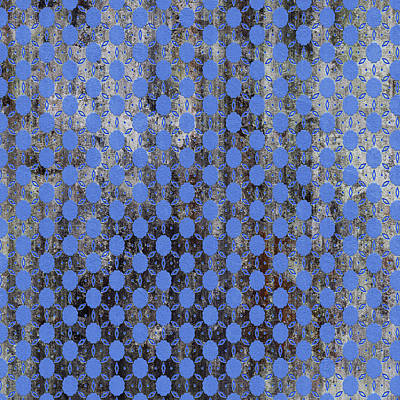 Mixed Media - Decadent Urban Blue Patterned Abstract Design by Georgiana Romanovna
