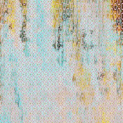 Wash Mixed Media - Decadent Urban Light Colored Patterned Abstract Design by Georgiana Romanovna