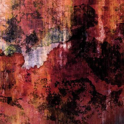 Mixed Media - Decadent Urban Old Brick Wall Grunge Abstract by Georgiana Romanovna