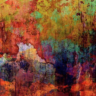Mixed Media - Decadent Urban Red Wall Grunge Abstract by Georgiana Romanovna
