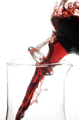 Decanting Red Wine Print by Frank Tschakert