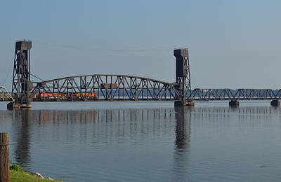 Photograph - Decatur Railroad Lift Bridge by rd Erickson