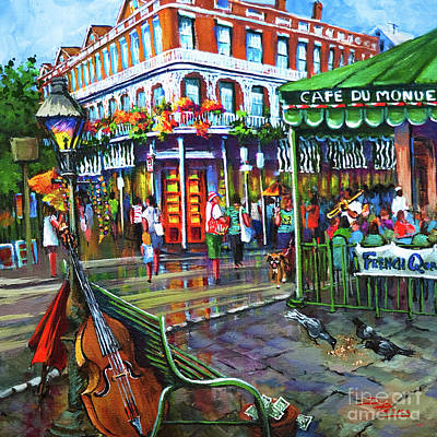 Jackson Square Painting - Decatur Street by Dianne Parks