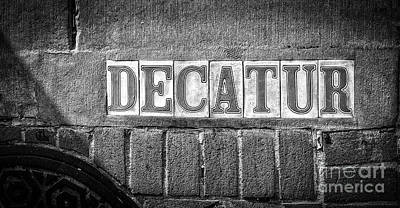 Photograph - Decatur Street Nola- Bw by Kathleen K Parker