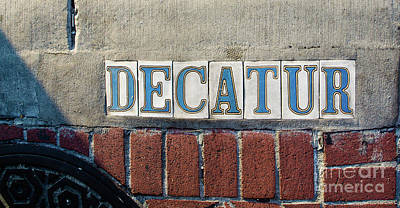 Photograph - Decatur Street Sign- Nola by Kathleen K Parker