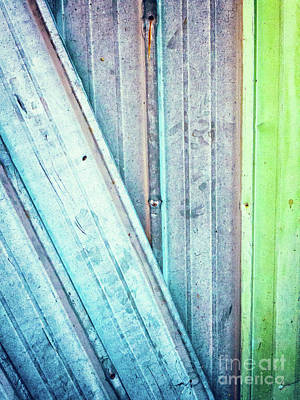 Photograph - Decayed Metal Door by Silvia Ganora