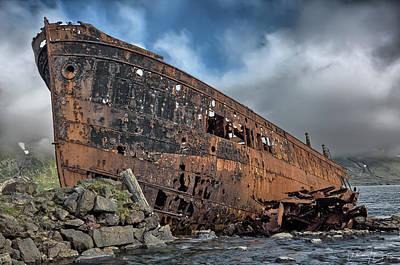 Photograph - Decaying Ship, Djupavik, Iceland - 6946,hs by Wally Hampton