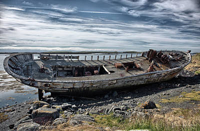 Photograph - Decaying Ship, Iceland - 0847,hs by Wally Hampton
