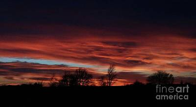Photograph - December 2016 Farm Sunset by J L Zarek