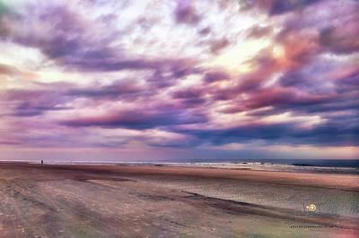 Photograph - December Beach Evening by Joedes Photography