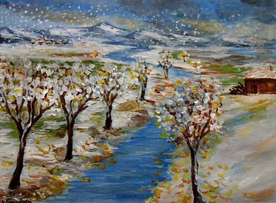 Painting - December by Constantinos Charalampopoulos