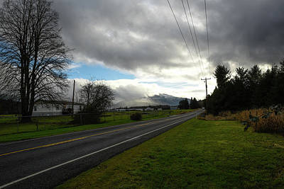 Photograph - December Country Road by Tom Cochran