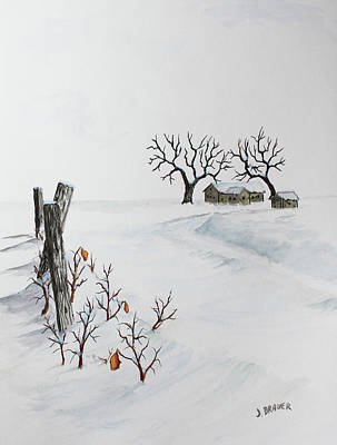 Painting - December Drifts by Jack G Brauer