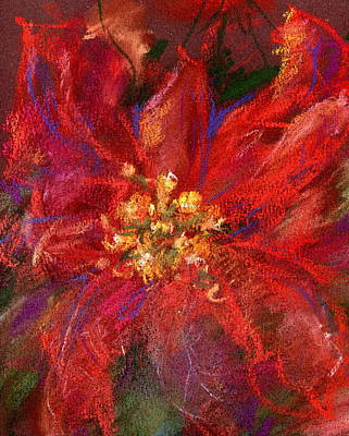 Painting - December Flower by Marilyn Barton