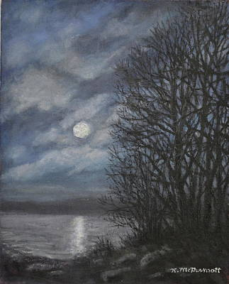 Painting - December Moonlight by Kathleen McDermott