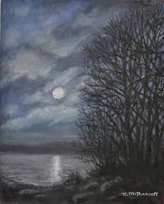 Painting - December Moonlight by Kathleen McDermott