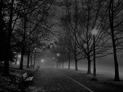 Night Lamp Photograph - December Morning In Riverfront Park - Spokane Washington by Daniel Hagerman