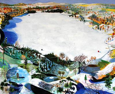 Snowy Day Mixed Media - December by Sophia Heymans