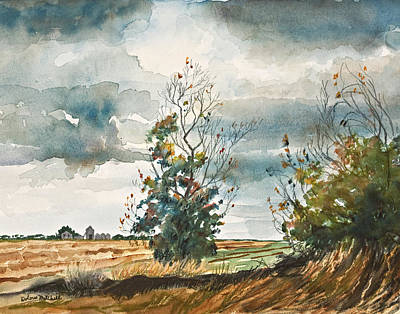 Dolores Painting - December Storm Breaking by Dolores Mitchell