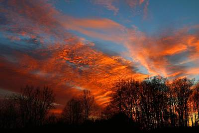 Photograph - December Sunset 2 by Kathryn Meyer