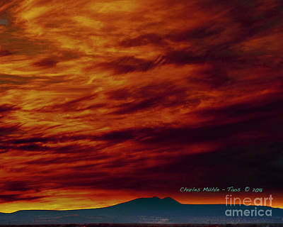 Photograph - December Sunset by Charles Muhle