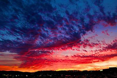 Photograph - December Sunset From The Mall Parking Lot by Polly Castor