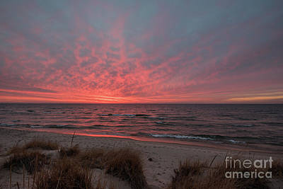 Photograph - December Sunset On Lake Michigan by Sue Smith