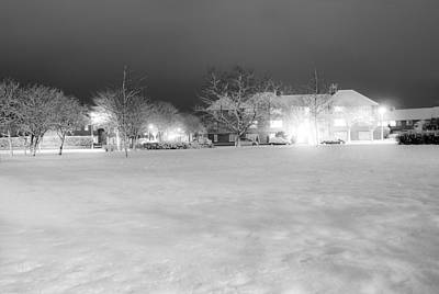 Snowy Night Photograph - December Time by Svetlana Sewell