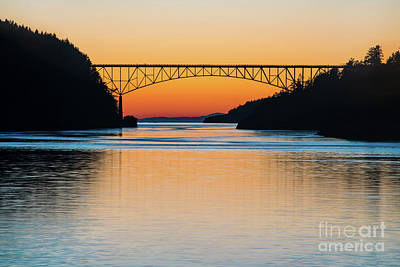 Whidbey Wall Art - Photograph - Deception Pass Bridge Evening Tranquility by Mike Reid