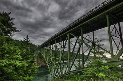 Photograph - Deception Pass Bridge - Oak Harbor, Wa by Kevin Pate