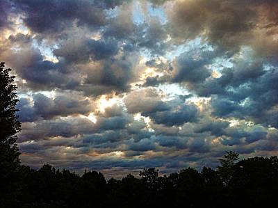Deceptive Clouds Art Print by Cricket Hackmann